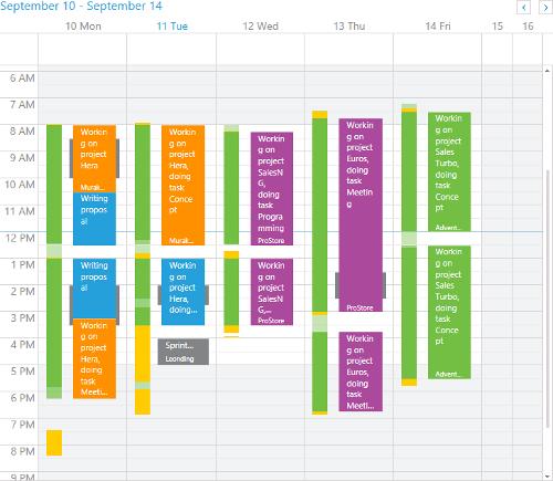 time sheet calendar time cockpit help